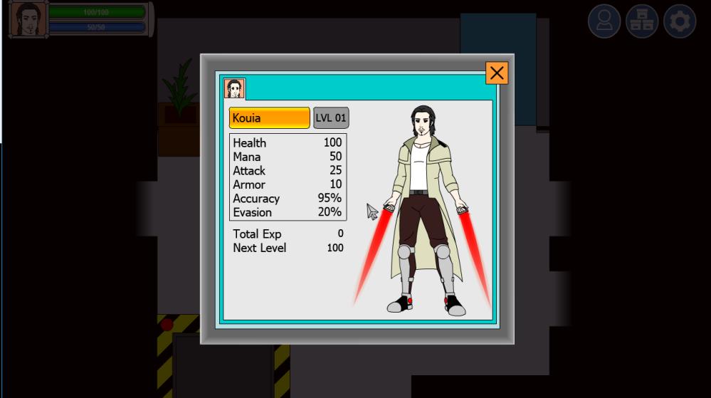 Character Status Screen & Possible Launch Window